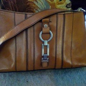 Etienne Aigner british tan shoulder bag
